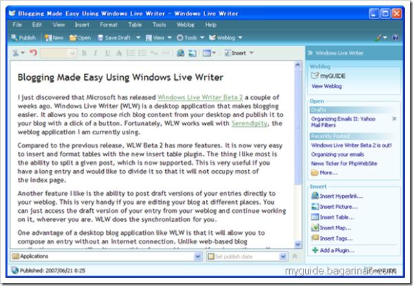 Windows Live Writer Beta 2